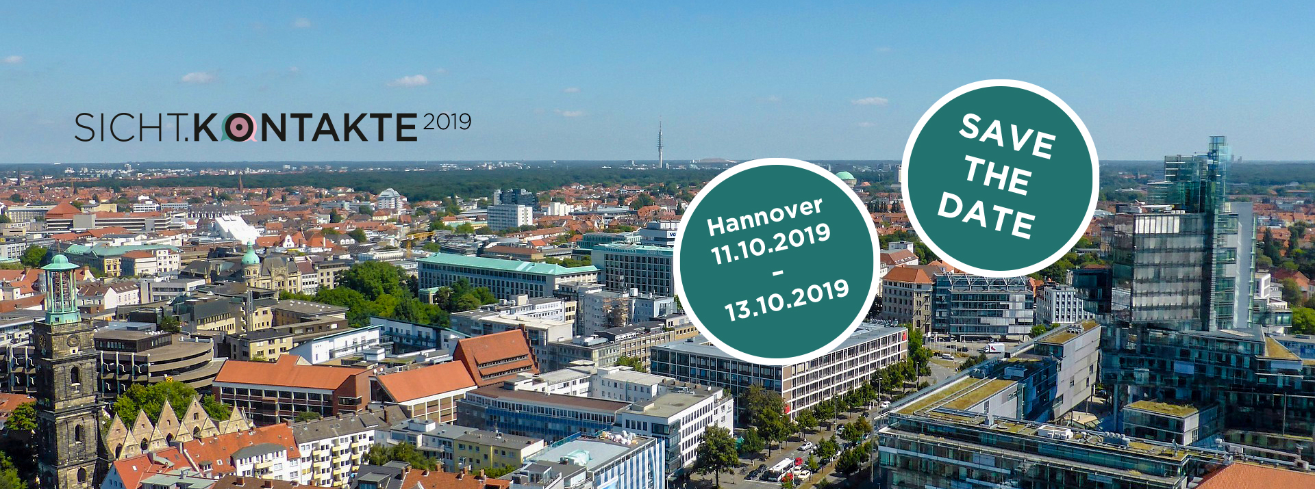 SICHT.KONTAKTE 2019 in Hannover, Save the Date